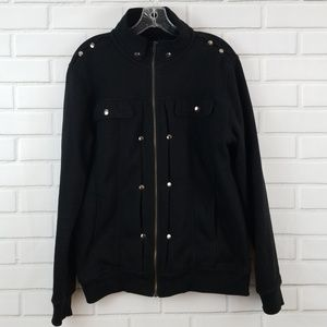 Doublju Cotton Blend Full Zip Jacket